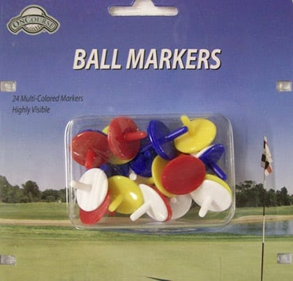 24 Multi-Colored Ball Markers