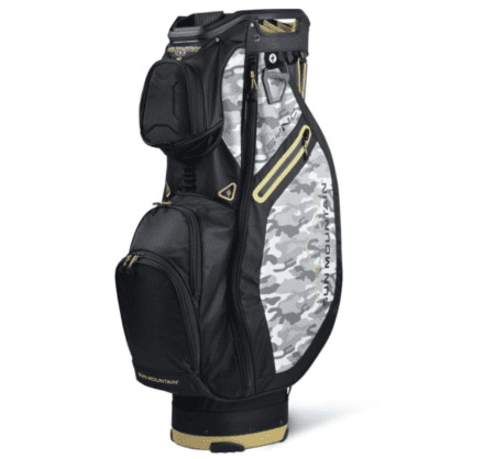 sun mountain sync black gold camo gold mens golf cart bag